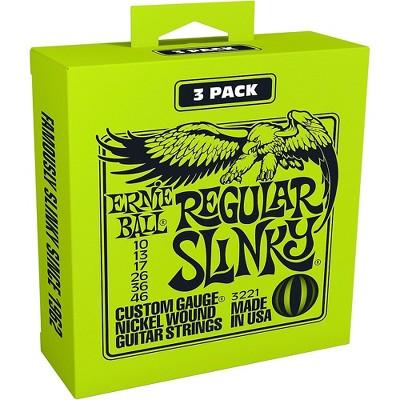 Ernie Ball 3221 Nickel Slinky Electric Guitar Strings 3-Pack