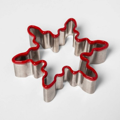 Stainless Steel Holiday Snowflake Cookie Cutter - Threshold™