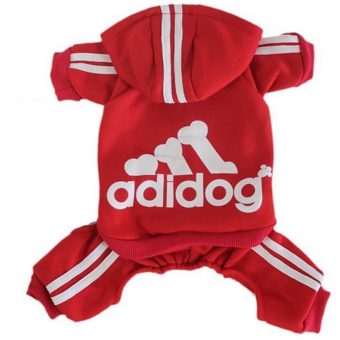 Fresh Pawz Adidog Logo Dog Jumpsuit - Red - image 1 of 2