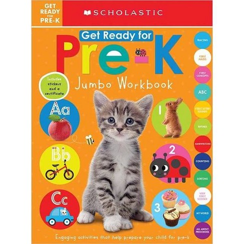 Get Ready for Pre-K Jumbo Workbook -  by Scholastic Inc. & Scholastic Early Learners (Paperback) - image 1 of 1