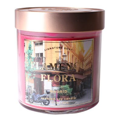 Small Glass Jar Candle Flamenco Flora 15.2oz - Signature Soy