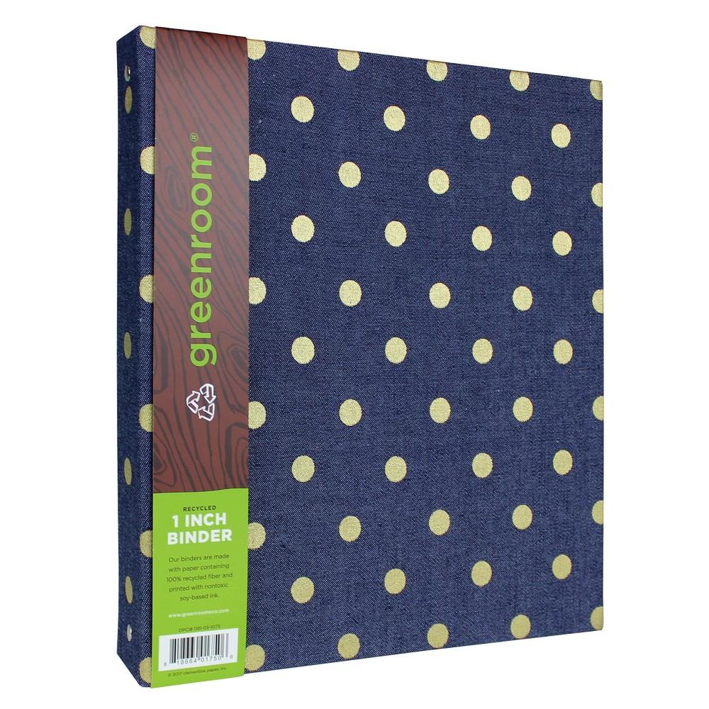 1 3 Ring Binder Denim (Blue) - greenroom