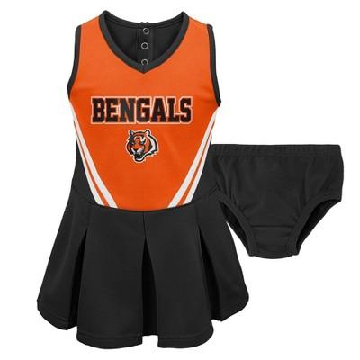 NFL Cincinnati Bengals Toddler Girls' In the Spirit Cheer Set - 4T