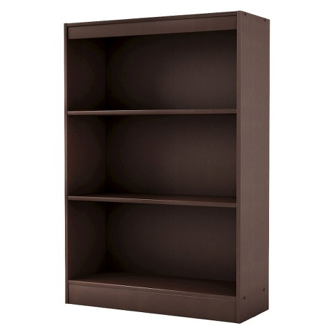 "43.25"" 3 Shelf Bookcase Chocolate - South Shore - image 1 of 4"