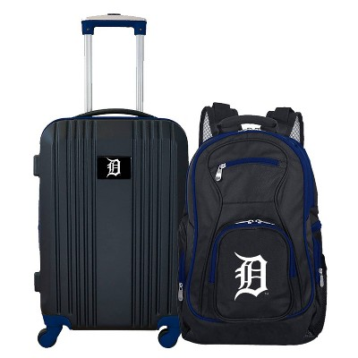 MLB Detroit Tigers 2 Pc Carry On Luggage Set
