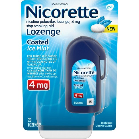 Nicorette 4mg Coated Nicotine Lozenge Stop Smoking Aid - Ice Mint - 20ct - image 1 of 4