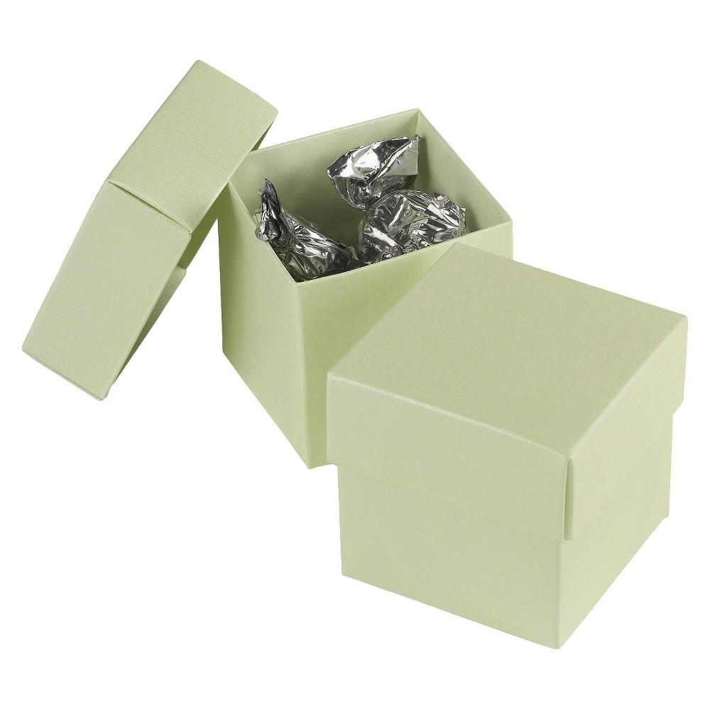 25ct Juniper Green Favor Box, Pale Sage