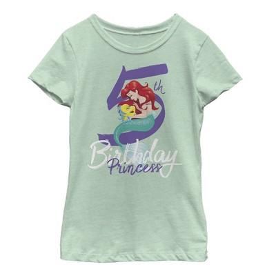 Girl's The Little Mermaid 5th Birthday T-Shirt