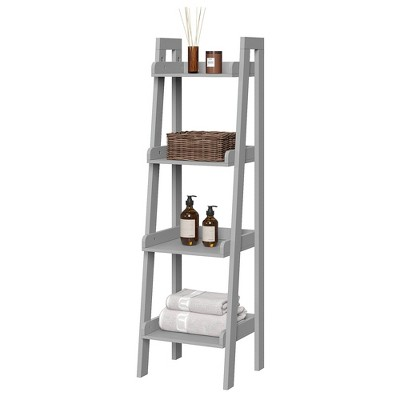 4 Tiers Narrow Ladder Bathroom Shelf   River Ridge by River Ridge