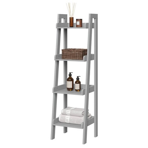 4 Tier Narrow Ladder Bathroom Shelf Gray Riverridge Home Target