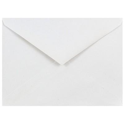 JAM Paper A6 Invitation Envelopes with V-Flap 4.75 x 6.5 White 25/Pack J0567