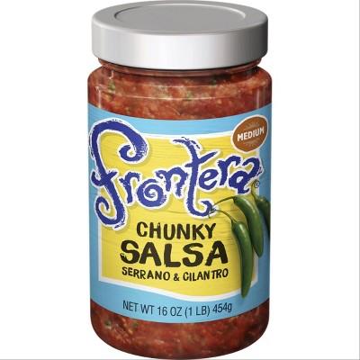 Frontera All Natural Medium Fire-Roasted Tomato & Jalapeno Salsa 16oz