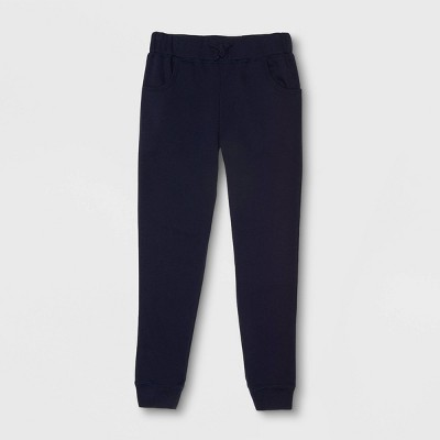 French Toast Girls' Uniform Fleece Jogger Pants - Navy