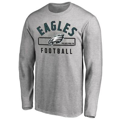 NFL Philadelphia Eagles Men's Big & Tall Long Sleeve Gray T-Shirt - 6XL