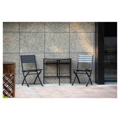 Bryant Faux Wood 3pc Balcony Patio Bistro Set - Project 62™