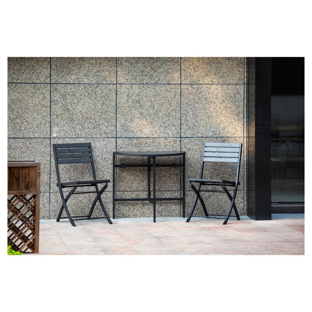 Bryant Faux Wood 3pc Balcony Patio Bistro Set - Project 62
