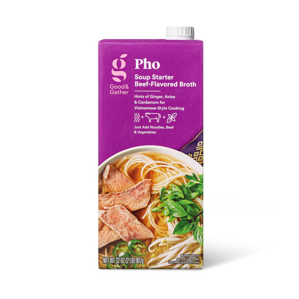 Pho Soup Starter Beef Broth 32oz Good 38 Gather 8482
