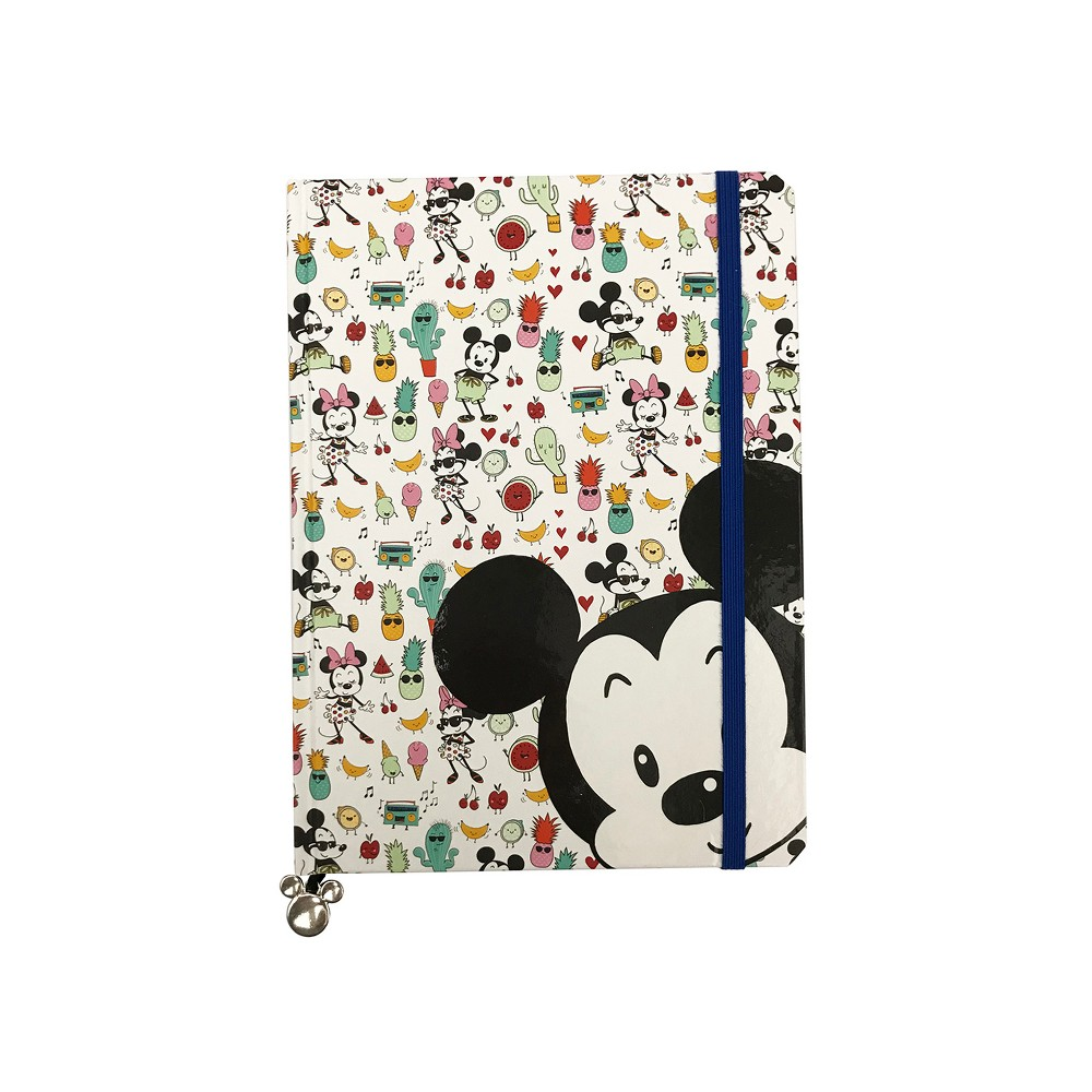 Disney Mickey Mouse Lined Journal with Elastic Closure & Inner Pocket, Multi-Colored