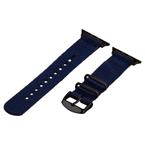 Clockwork Synergy Classic Nato 2 Apple Watch Band 42mm with Black Adapter - Navy Blue - image 1 of 1