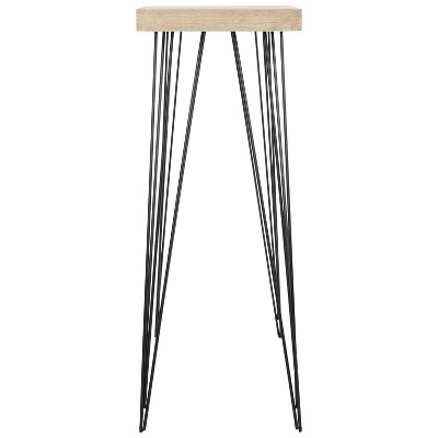 Lali Mid-Century Console Table - Light Brown & Black - Safavieh : Target
