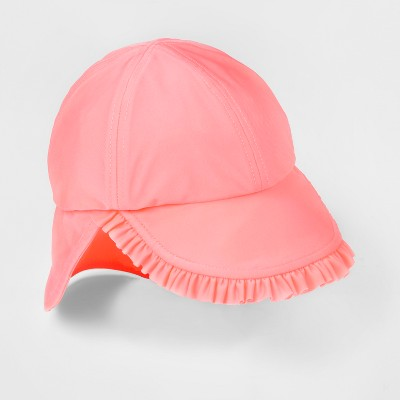 Baby Girls' Ruffle Knit Bucket Hat - Cat & Jack™ Pink 6-12M