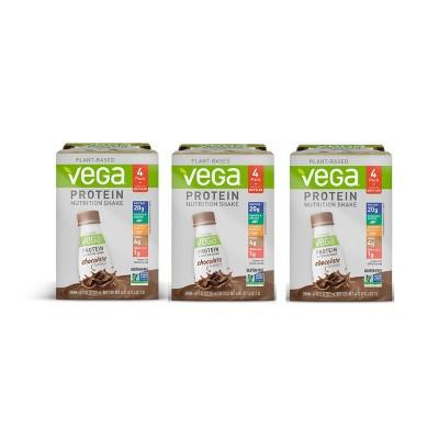 Vega Vegan Protein Shake - Chocolate - 12pk/11 fl oz Bottles