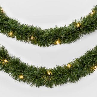 18ft Pre-lit Artificial Christmas Garland Clear Lights - Wondershop™