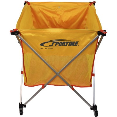 Sportime Fold-A-Cart with Yellow Nylon Bag, 30 x 26 x 26 Inches