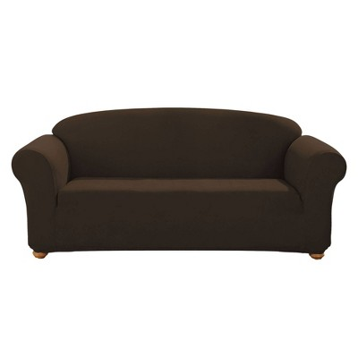 Suede Sofa Slipcover Chocolate - Sure Fit