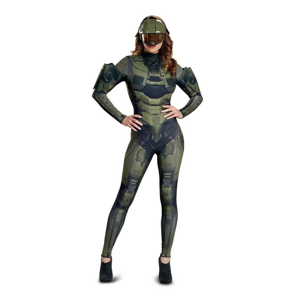 Women's Halo Master Chief Halloween Costume S, Multicolored
