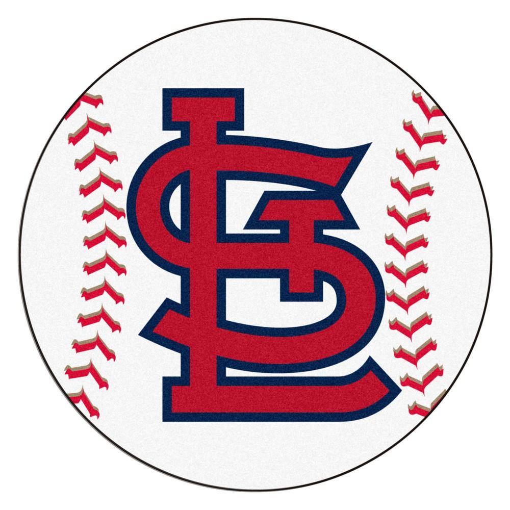 MLB St. Louis Cardinals Baseball Mat 27 Diameter