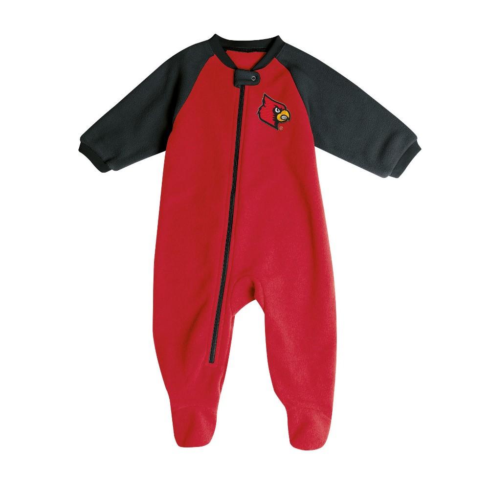 Louisville Cardinals Baby Boys' Long Sleeve Blanket Sleeper - 6-9M, Multicolored
