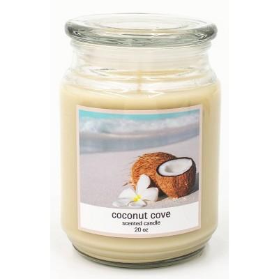 20oz Lidded Glass Jar Coconut Cove Candle