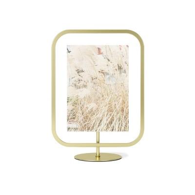 "5"" x 7"" Infinity Sqround Single Photo Display Frame Matte Brass - Umbra"