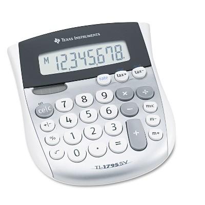 Texas Instruments TI-1795SV Minidesk Calculator 8-Digit LCD TI1795SV