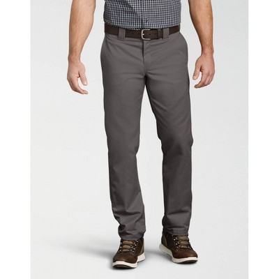 34X34 Gravel Gray Genuine Dickies Men/'s Flat Front Flex Slim Fit Pants