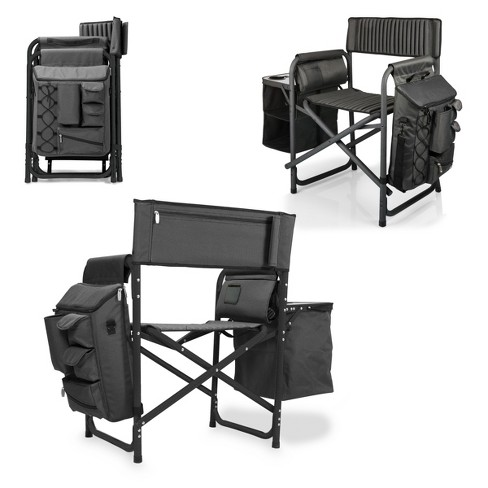 Picnic Time Fusion Chair - Dark Gray/ Black (14.0 Lb) - image 1 of 6