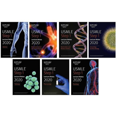 USMLE Step 1 Lecture Notes 2020: 7-Book Set - (Kaplan Test Prep) (Paperback)