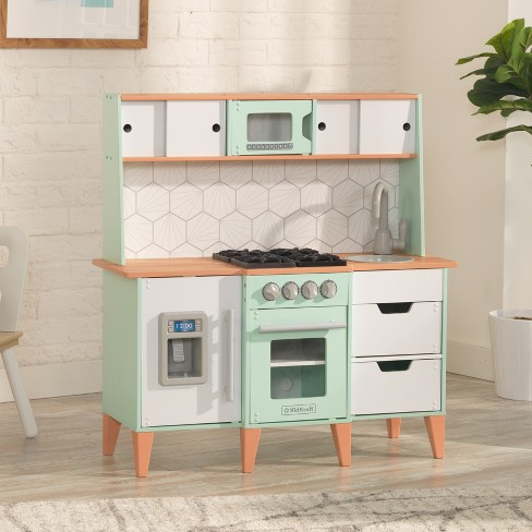 Awe Inspiring Kidkraft Mckinney Vintage Luxe Toddler Play Kitchen Home Interior And Landscaping Staixmapetitesourisinfo