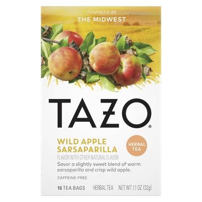Tazo Foragers Wild Apple Sarsaparilla Tea - 16ct