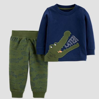 Baby Boys' Alligator 2pc Top & Bottom Set - Just One You® made by carter's Green 6M