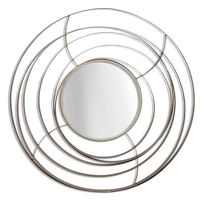 Metal Orbital Mirror I Silver - StyleCraft