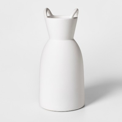 12  x 5.7  Earthenware Vase With Handles White - Project 62™