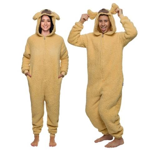 Funziez! Golden Dog Slim Fit Adult Unisex Novelty Union Suit - image 1 of 4