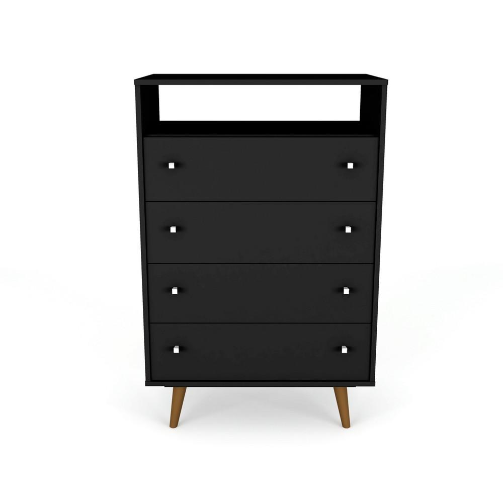 Liberty Dresser Chest Black - Manhattan Comfort