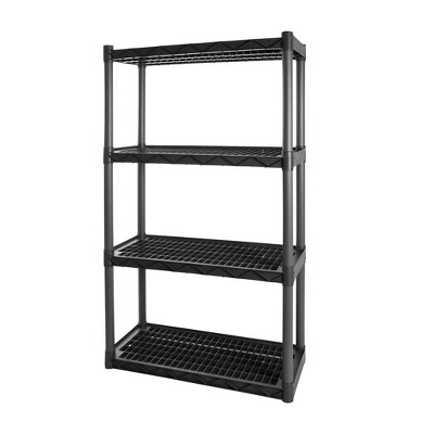 Plano 4 Shelf Utility Storage Gray
