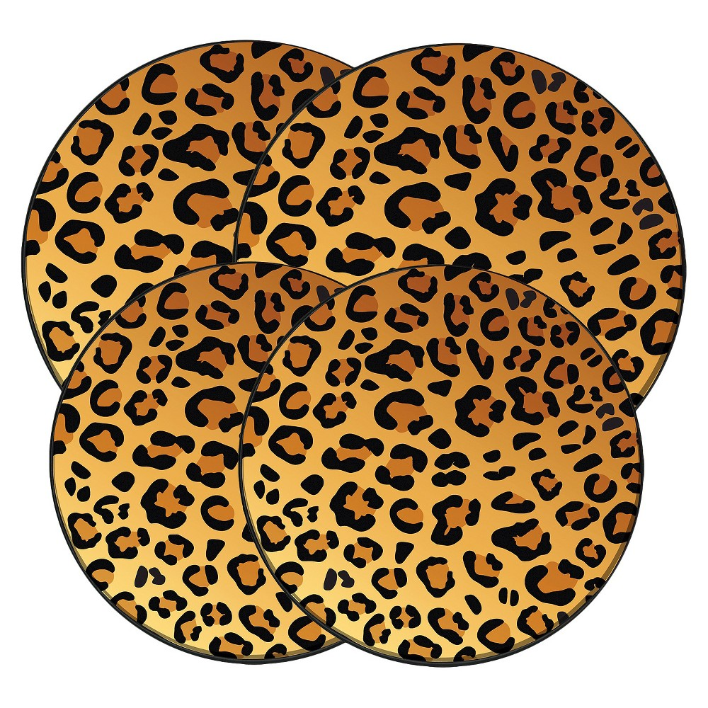 Image of Range Kleen Burner Kovers Round In the Wild - Leopard, Brown