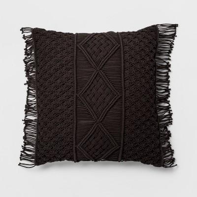 Black Macrame Oversize Throw Pillow - Opalhouse™