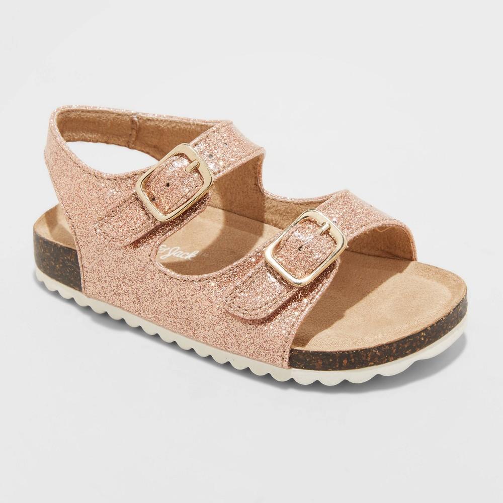 Toddler Girls 39 Tisha Footbed Sandals Cat 38 Jack 8482 Rose Gold 12