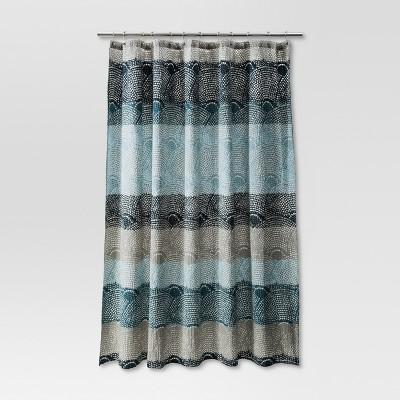 Dot Scallop Shower Curtain Cool - Threshold™